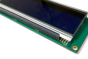 AZ DISPLAYS CUSTOM GLASS LCD ZEBRA STRIP ELASTOMERIC